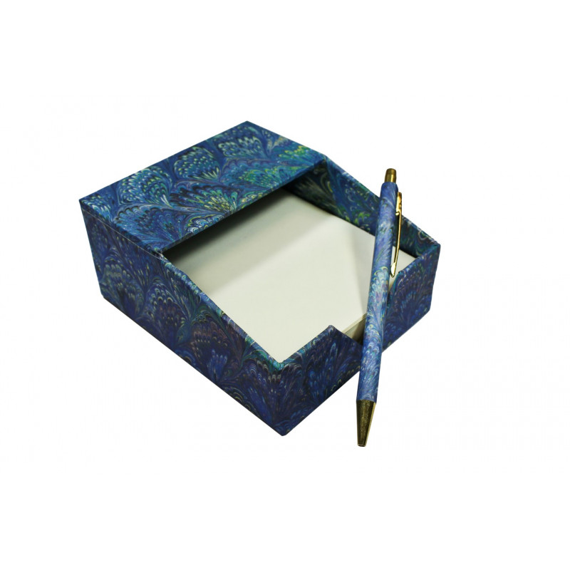 Porta foglietti grande con penna - Carta Fiorentina di Viola Gambassi